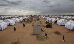 Dadaab refugee camp in Kenya.