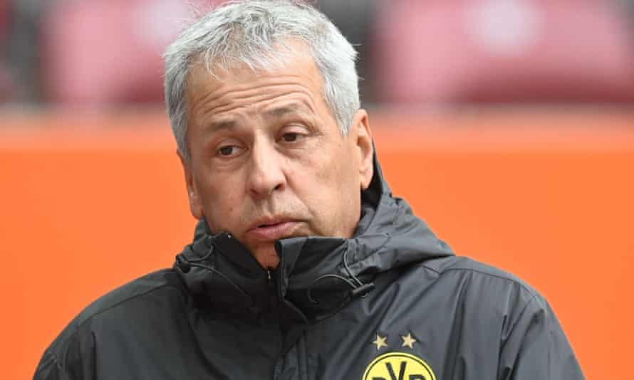 The Swiss coach Lucien Favre