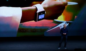Tim Cook speaks about the new Apple Watch.