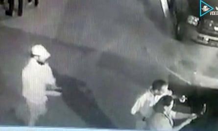 Fernando Purón's murder was caught on CCTV.