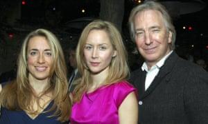 Katharine Viner, Megan Dodds and Alan Rickman