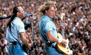 Francis Rossi and Rick Parfitt, AKA Status Quo, play Knebworth in 1990