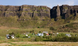 The village of Cleadale on the Isle of Eigg.