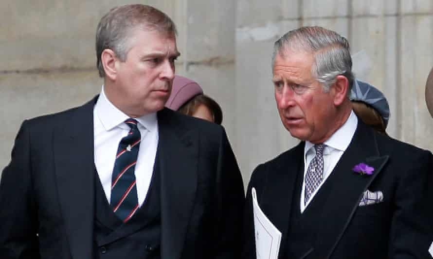 Prince Andrew with Prince Charles