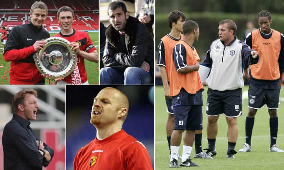 Ole Gunnar Solskjær, Pep Guardiola, Brendan Rodgers, Sean Dyche and Ralph Hasenhüttl.