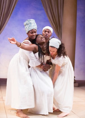 Joaquina Kalukango, centre, at the Swan theatre in Stratford in 2013.