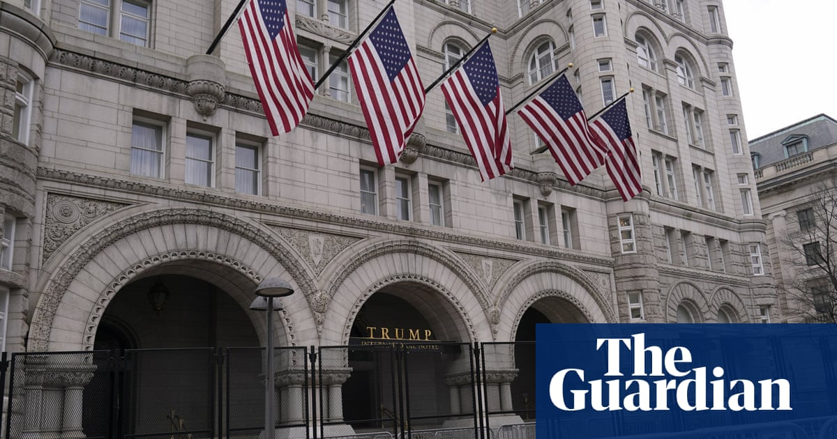 Trump hid losses of $70m at DC hotel during his presidency, records reveal