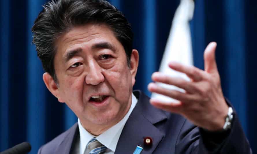 Japan's prime minister Shinzo Abe.