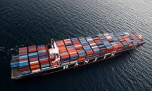 Hanjin Shipping Co ship