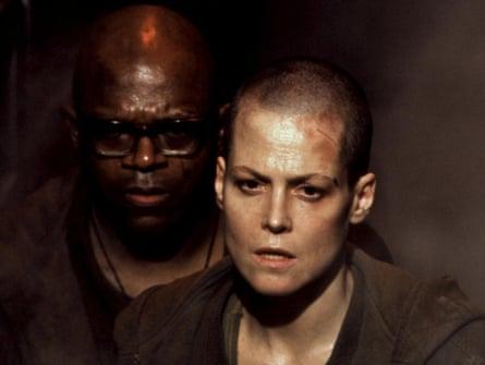 Head short of actor Sigourney Weaver in Alien 3