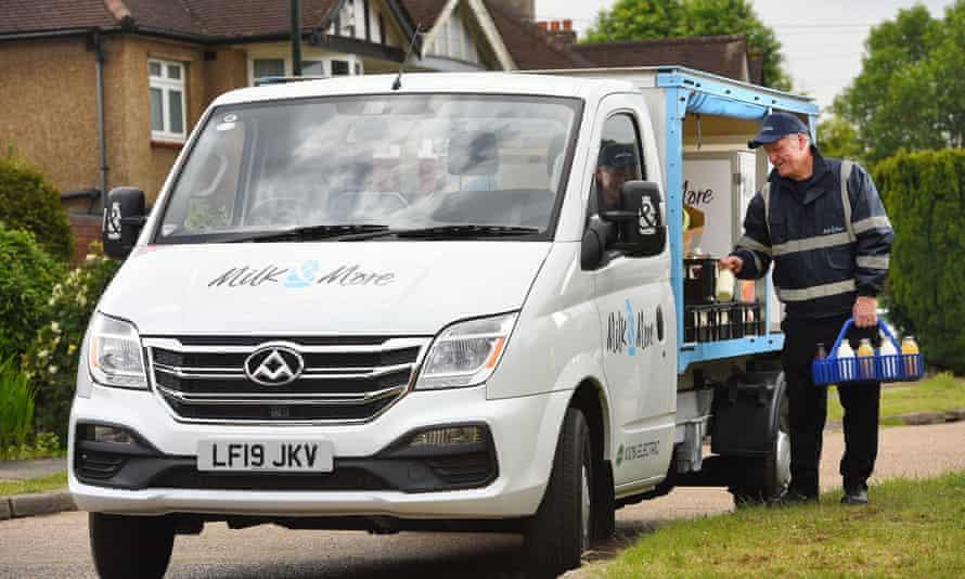 A Milk & More delivery van