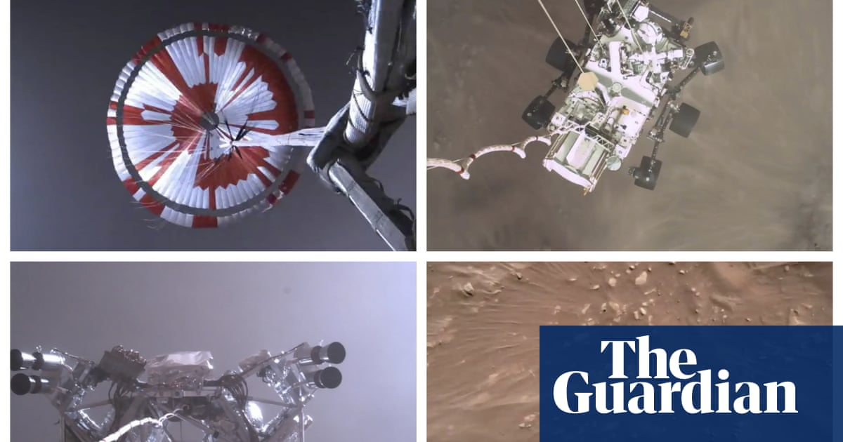 Nasa releases video of Perseverance rover landing on Mars thumbnail