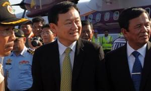 Former Thai prime minister Thaksin Shinawatra (centre) in 2009