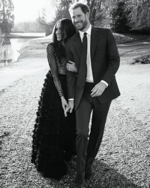 One of Prince Harry and Meghan Markle's engagement photos.