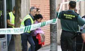 Rosario Porto being arrested on suspicion of murder.