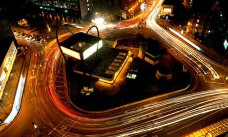 Old Street roundabout, the centre of London's technology scene.