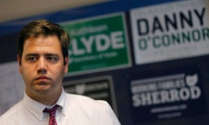 Danny O'Connor is trying to walk a tightrope between his party's progressive base and key swing voters.