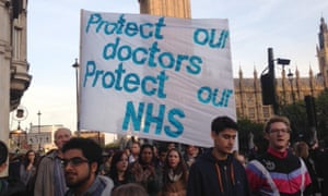 Junior doctors during an earlier protest in London.