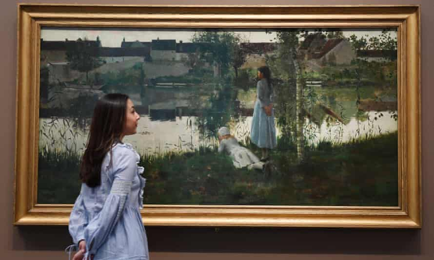 William Stott's Le Passeur (1881) on display at Tate Britain