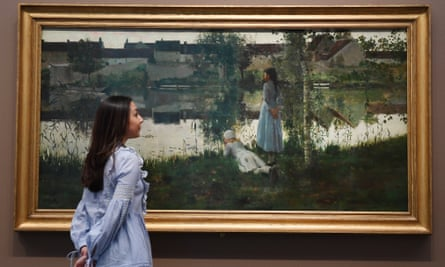 William Stott's Le Passeur (1881) on display at Tate Britain
