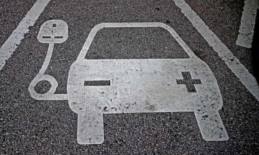 Electric car parking space
