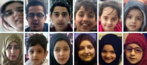 Missing sisters, Sugra Khadija and Zohra Dawood with their children.