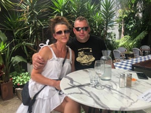 Sharon Bristoe and her partner Matt McIntosh at Bell's Hotel in South Melbourne.