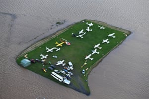 Stranded aircraft parked at Lismore's airport
