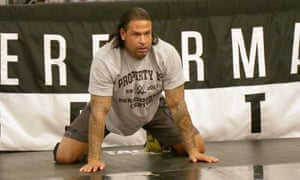 Tim Wiese at the WWE's Performance Centre in Orlando.