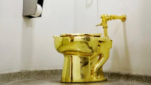 Maurizio Cattelan's America, a functional 18ct gold toilet that will be in a secret Blenheim location.