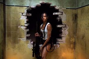 Fantasy carnage … Zoe Saldana in Colombiana.