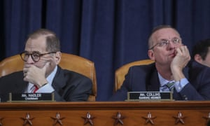 The Democratic House judiciary committee chair, Jerry Nadler, and the ranking Republican Doug Collins on Capitol Hill on 9 December.
