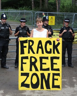 Lucas was found not guilty of obstructing a public highway and a public order offence in relation to a protest about fracking in West Sussex