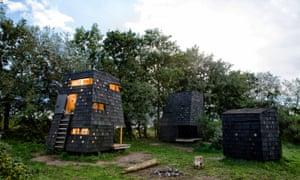 Shelters on the island of Tasinge. Denmark