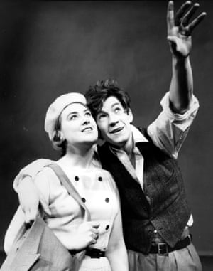 1966 Ian McKellen with Gillian Martell in Arnold Wesker's Their Very Own and Golden City, directed by William Gaskill and John Dexter, at the Royal Court, London