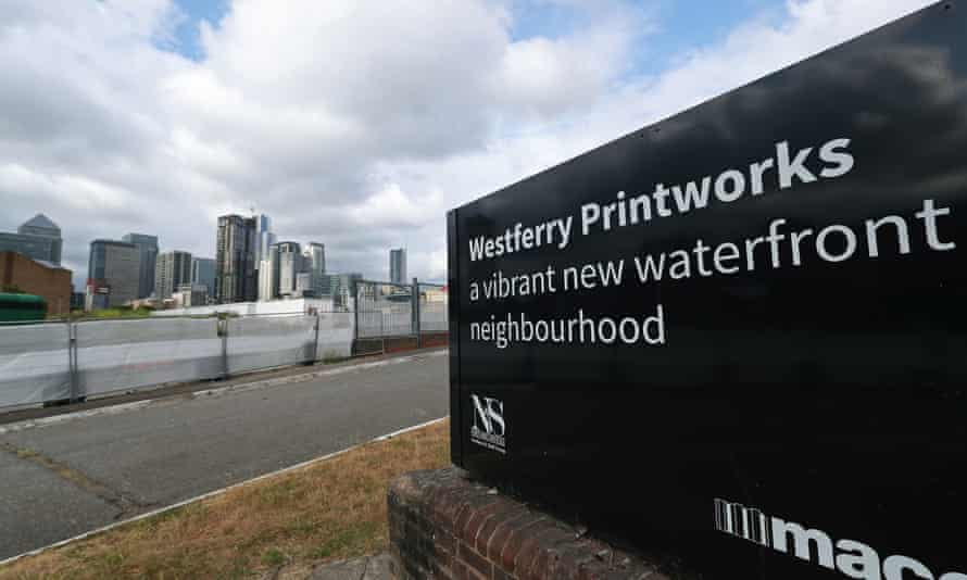 The Westferry Printworks development on the Isle of Dogs, east London.