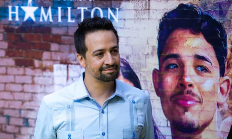 Lin-Manuel Miranda attends the premiere for In the Heights in Washington Heights, Manhattan.