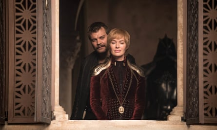 Completely dreadful Cersei Lannister (Lena Headey) with Euron Greyjoy (Pilou Asbæk).