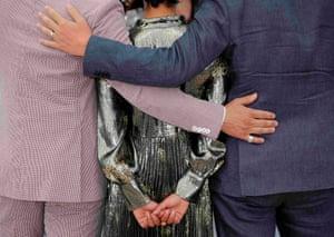 Director Jeff Nichols, cast members Joel Edgerton and Ruth Negga pose