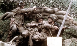 Scott Grimes, center, plays Donald Malarkey in Band of Brothers.