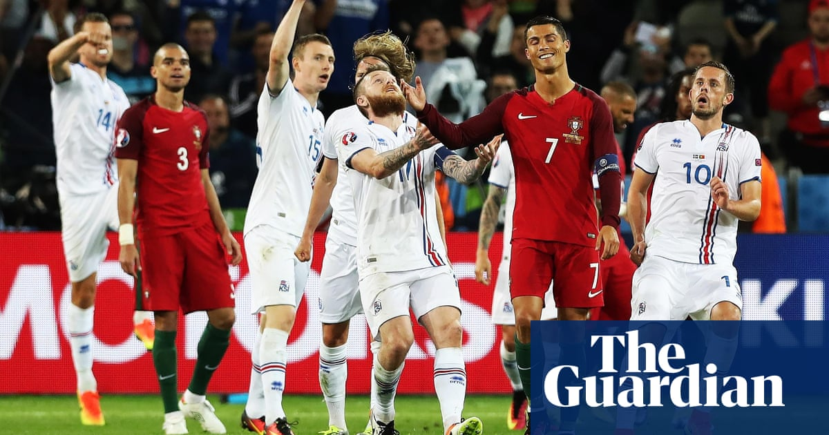 0d2ae2954 Cristiano Ronaldo hits out at  small  Iceland after Portugal are ...