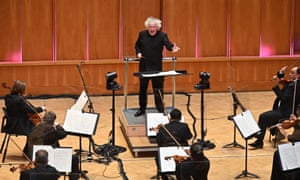 Energy in the room... The socially distanced LSO conducted by Simon Rattle at LSO St Luke's
