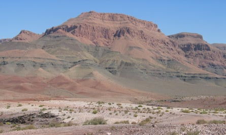 Lava piles of the Central Atlantic Magmatic Province in Morocco (Midelt)