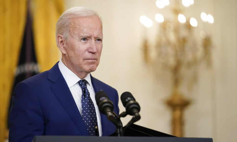 Joe Biden at the White House on 15 April.