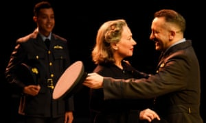 Linford Johnson, Isobel Middleton and Robin Simpson in Much Ado About Nothing.