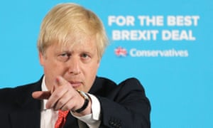 Boris Johnson on the campaign trail.