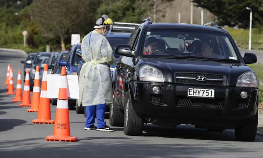 Drive-through testing in Christchurch