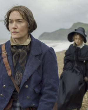 "This image released by Neon shows Kate Winslet, foreground, and Saoirse Ronan in a scene from ""Ammonite."" (Neon via AP)"