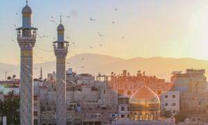 Sayeda Zeinab shrine in the Syrian capital, Damascus