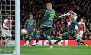 Pierre-Emerick Aubameyang came closest to finding a winner for Arsenal.